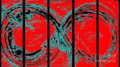 Pollack Mixed Media - Red Infinity Modern Painting Abstract By Robert R Splashy Art by Robert R Splashy Art