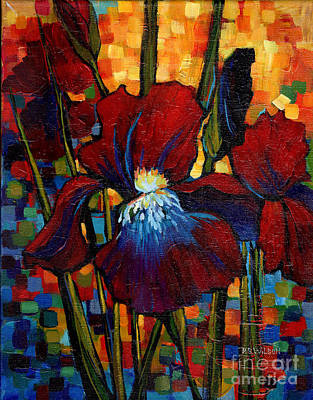 Painting - Red Iris by Peggy Wilson