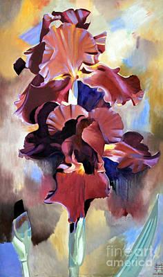 Red Irises Art Print by Michael Stoyanov