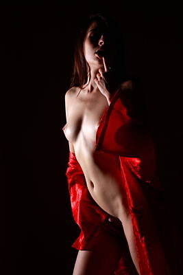 Dancer Photograph - Red Is The Color by Joe Kozlowski
