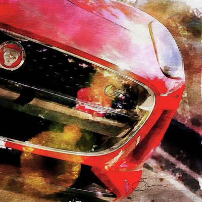 Digital Art - Red Jag by Robert Smith