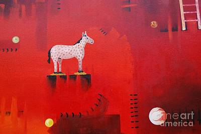 Mexicano Painting - Red by Jose Luis Montes