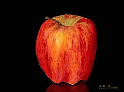 Painting - Red Juicy Apple  by Charlotte Bacon