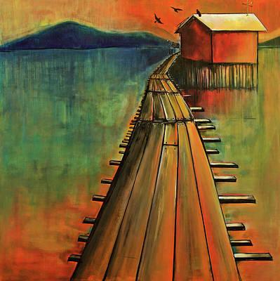 Painting - Red June by Nancy Hilliard Joyce