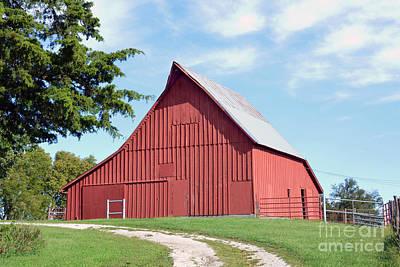 Photograph - Red Kansas Barn by Catherine Sherman