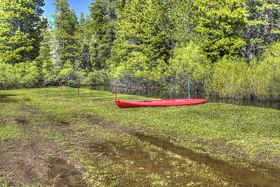 Photograph - Red Kayak by SC Heffner
