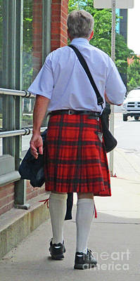 Photograph - Red Kilt by Randall Weidner