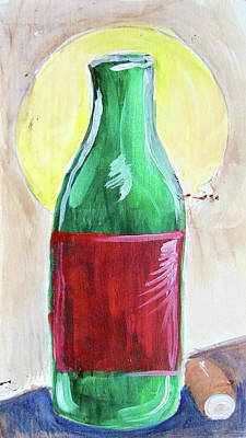 Painting - Red Lable Wine by Loretta Nash
