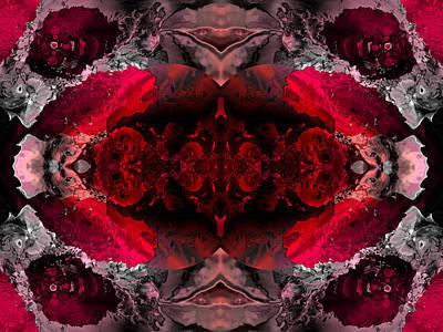 Algorithmic Digital Art - Red Lace by Claude McCoy