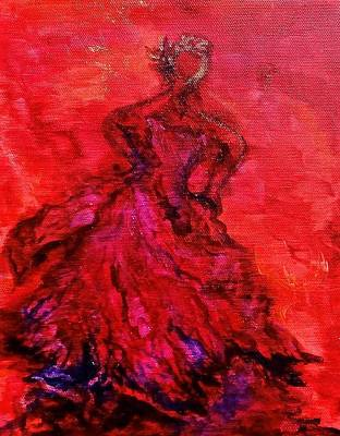 Painting - Red Lady by Michelle Pier