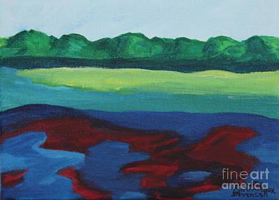 Red Lake Art Print by Annette M Stevenson