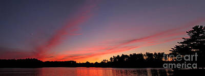 Jft Photograph - Red Lake Sunset by James F Towne