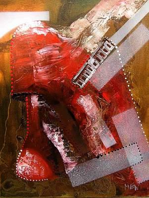 Red Lamp Transformation Art Print by Evguenia Men