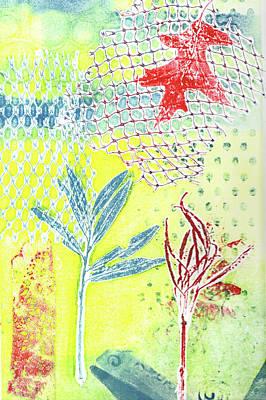 Printmaking Mixed Media - Red Leaf One by Catherine Alfidi
