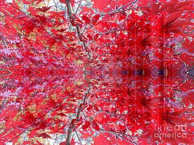 Photograph - Red Leaves Abstract 1 by Erika H