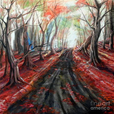 Painting - Red Leaves by Ida Eriksen