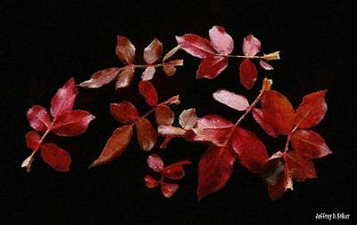 Painting - Red Leaves by Jeff Kolker