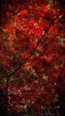 Digital Art - Red Leaves by Peter R Nicholls