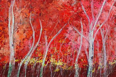 Digital Art - Crimson Leaves by Victor Shelley