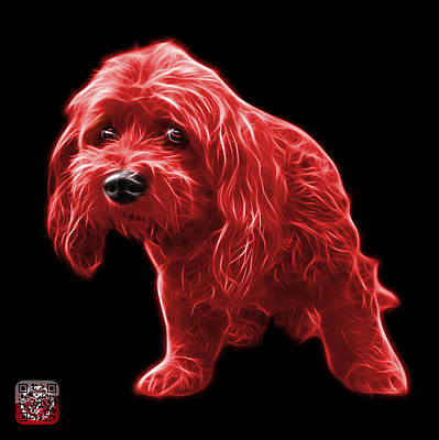 Painting - Red Lhasa Apso Pop Art - 5331 - Bb by James Ahn