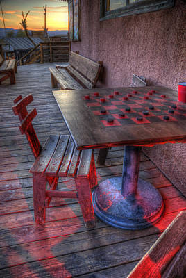 Old West Ghost Towns Photograph - Red Light Checkers by Wayne Stadler