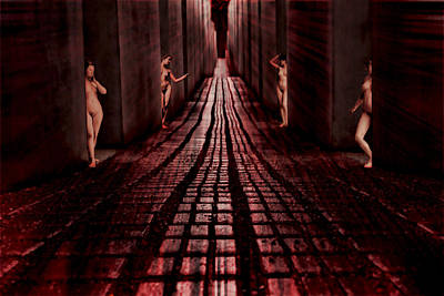 Digital Art - Red Light District 1924 by John Haldane