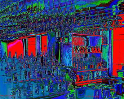 Digital Art - Red Light Lounge by Larry Beat