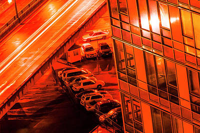 Photograph - Red Light Overpass by Amyn Nasser