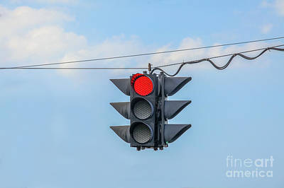 Red Light Art Print by Patricia Hofmeester