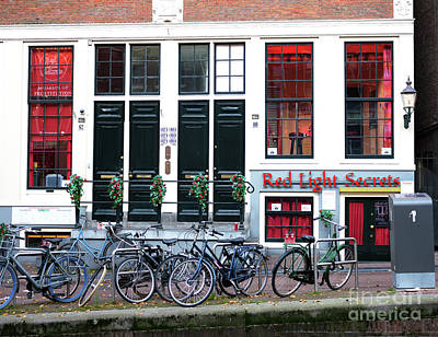 Photograph - Red Light Secrets In Amsterdam by John Rizzuto