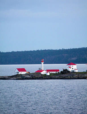Photograph - Red Lighthouse Portrait by Donna Munro