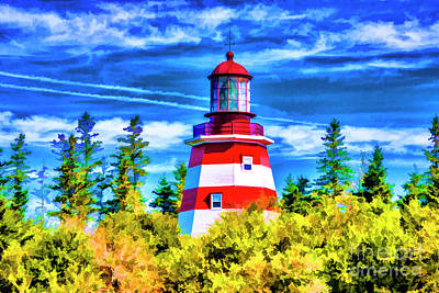 Photograph - Red Lighthouse by Rick Bragan