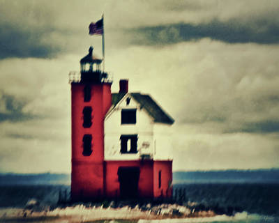 Photograph - Red Lighthouse by Tony Grider