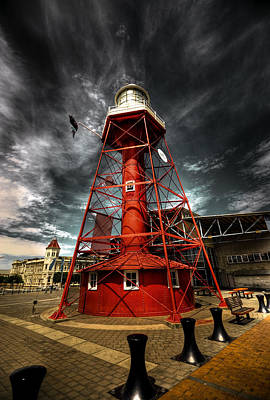 Photograph - Red Lighthouse by Wayne Sherriff
