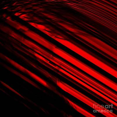 Photograph - Red Lights Abstract by Mary Machare