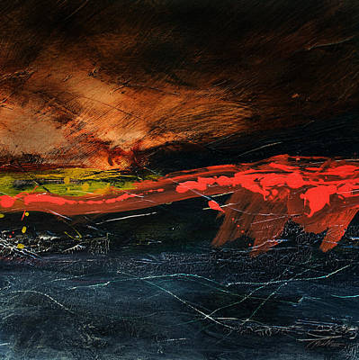 Painting - Red Line At Sea 2 by    Michaelalonzo   Kominsky