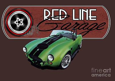 Cobra Mixed Media - Red Line Garage by Paul Kuras