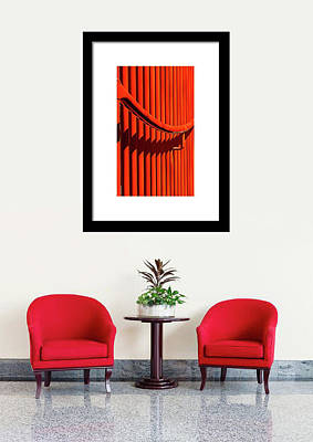 Photograph - Red Lines And Curves On Display by Gary Slawsky