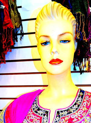 Photograph - Red Lips And Sequins by Ed Weidman