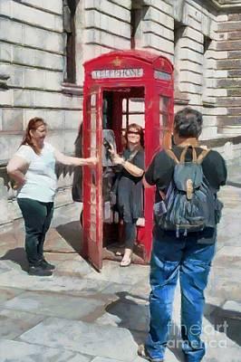Photograph - Red London Phone Box by Mick Flynn