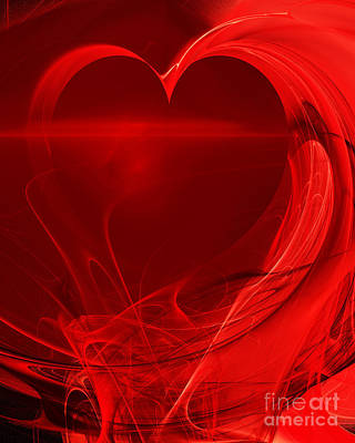 Photograph - Red Love . A120423.279 by Wingsdomain Art and Photography