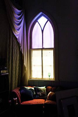 Photograph - Red Loveseat by Martha Johnson