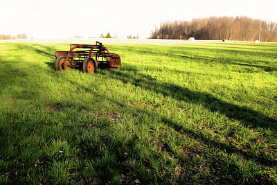 Photograph - Red Machine In A Green Field by Spyder Webb