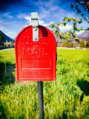 Photograph - Red Mailbox by Silvia Ganora