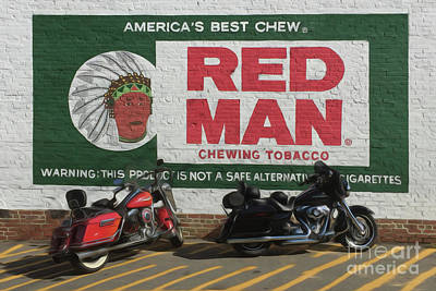 Indian Motorcycle Company Photograph - Red Man Chewing Tobacco by Tom Gari Gallery-Three-Photography