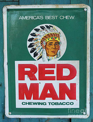 Photograph - Red Man by Skip Willits