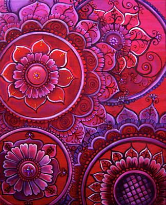 Painting - Red Mandalas by Eleanor Hofer