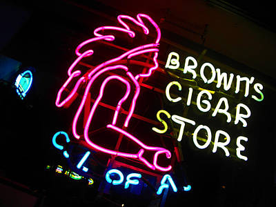 Photograph - Red Man's Smoke Shop by Elizabeth Hoskinson