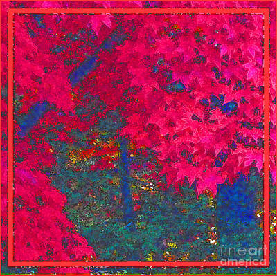 Plein Air Digital Art - Red Maple 1 by Melissa A Benson