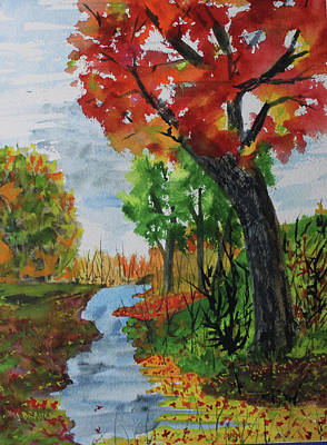 Painting - Red Maple by Jack G Brauer